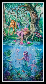 Fairy tale - Fairy and Mermaid