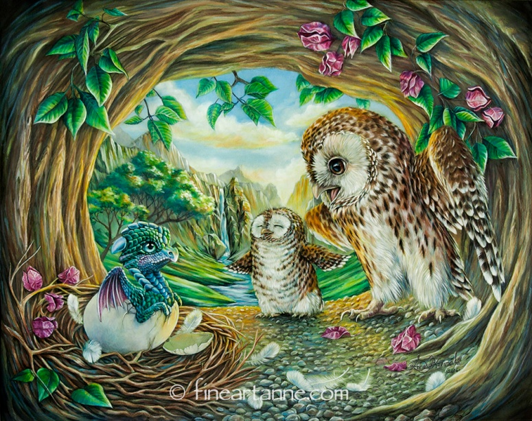 Ugly duckling - Dragon baby and Owls