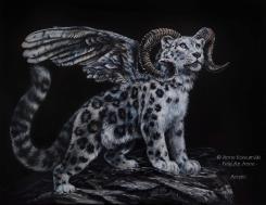 Leobird acrylic painting